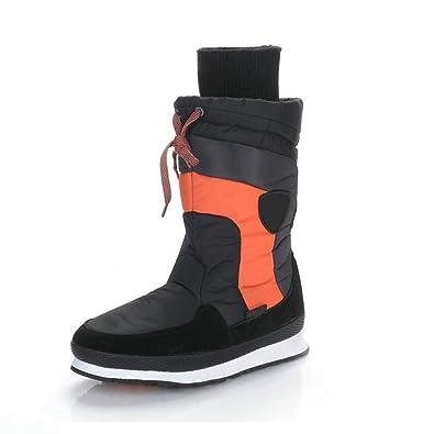 8ea57584143 Amazon.com   Fashion Mid Calf Boots for Women Round Toe Winter Snow ...