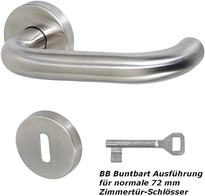 U-Form Drückergarnitur Edelstahl Türdrücker Türgriff fest//drehbar Klinke