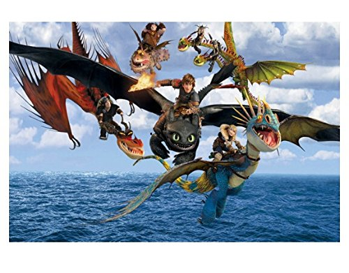 Bestweeks How To Train Your Dragon 2 Retro Classic Vintage Movie Photo Poster And Print For Wall 50*75 Cm Wall Sticker Ko/368036
