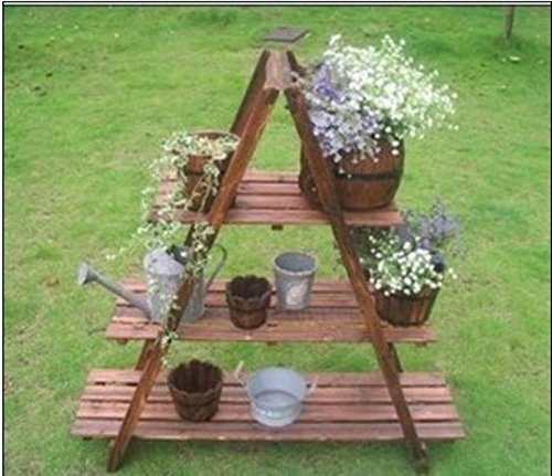 Type a flower rack/three-layer carbonized flower racks/anti-corrosion flower racks/flower pot/-B by SHDUAYGSCXS