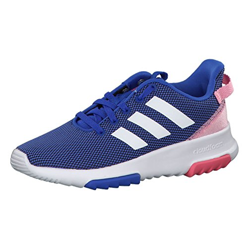 Adidas Cf Racer TR K Kinder Laufschuhe, Unisex Blau