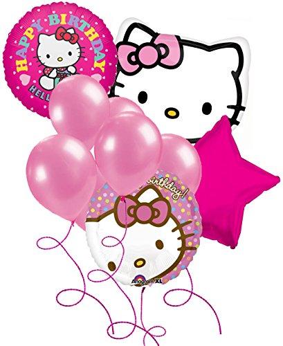 Hello Kitty Birthday Party Balloon Package - (1)Giant Hello Kitty Face Mylar (2)18
