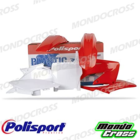mondocross Kit plastiche Cross MX Polisport Rojo Blanco Honda CR 125 04 – 07 Cr 250 04 – 07