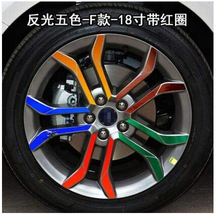 Reflective Mixed Plated Mixed color Beautiful 18 Inch Rims Wheels Sticker for Ford Mondeo Z2CA530A  (color Name  Mixed)
