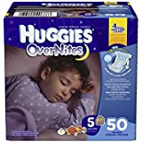 Huggies Overnites Diapers, Size 5, 50 Count