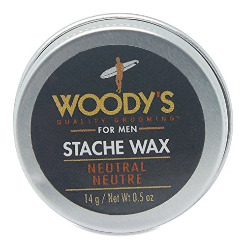 Woody's Quality Grooming For Men Neutral Stache Wax, 0.5 Ounce