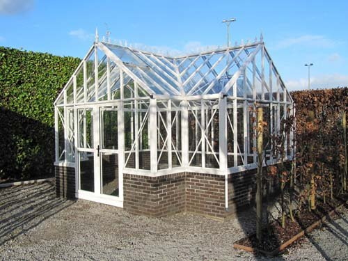 Glass Greenhouse Kit - Royal Victorian Antique Orangerie Glass Greenhouse with Accessory Kit