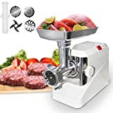 Idealchoiceproduct 2000W 2.6HP Electric Meat Grinder Kitchen Butcher Sausage Maker Machine 3 Cutting Blades