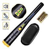 "RM RICOMAX Metal Detector Pinpointer -【3 LED Range Indicators & Buzzer Vibration Sound】【IP66 Partially Waterproof & 10.8"" Lightweight】Handheld Metal Detector Pinpointer with Belt Holster"