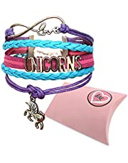 Infinity Unicorns Bracelet Girls, Unicorn Jewellery, Infinity Bracelet Unicorn Charm, Gift Boxed