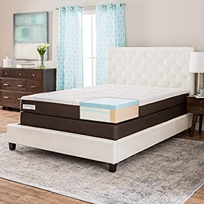 Simmons Beautyrest ComforPedic from Beautyrest 8-inch Twin-Size Gel Memory Foam Mattress Set - White/Brown