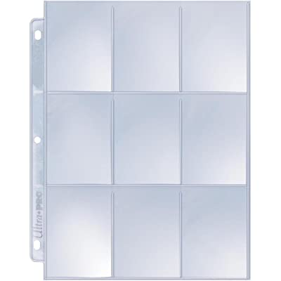 Ultra Pro 9-Pocket Silver Series Page Protector for Standard Size Cards (25-Count): Toys & Games