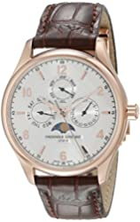 Frederique Constant Men's FC365RM5B4 Runabout Analog Display Swiss Automatic Brown Watch
