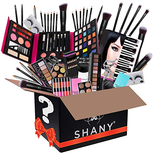 SHANY Gift Surprise - AMAZON EXCLUSIVE - All in One Makeup Bundle - Includes Pro Makeup Brush Set, Eyeshadow Palette,Makeup Set or Lipgloss Set and and many others. - COLORS & SELECTION VARY