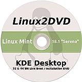 Linux Mint, KDE Desktop, Special Edition, 32 & 64 Bit, DVD