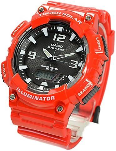 CASIO カシオ SPORTS 並行輸入品 スポーツ メンズ 腕時計 アナデジ タフソーラー AQ-S810WC-4A レッド 海外モデル [時計]