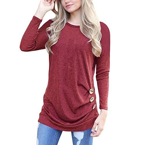 TOTOD Womens Tunic T-Shirt Jumper Pullover Women Long Sleeve