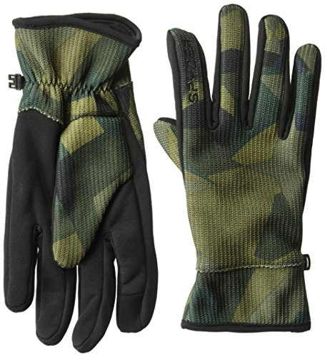 Polyester Mens Glove - Spyder Men's Stretch Fleece Conduct Glove, Guard Camo Print/Black, X-Large