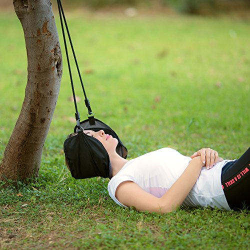 Eon Concepts Adjustable Hammock for Neck & Head - Stretcher & Pain Reliever for Stiff Shoulder & Neck | Head Traction Support | Light & Comfortable Material with Free Eye Mask | Relief Muscle Tension by Eon Concepts (Image #5)