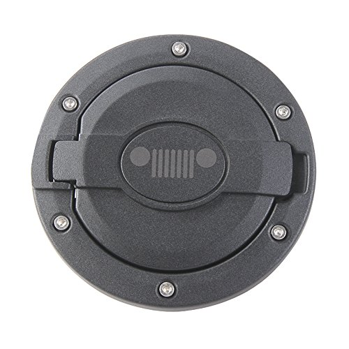 Matt Black Gas Tank Cap Cover Fuel Filler Door for 2007-2016 Jeep Wrangler JK 2/4 Door (A)