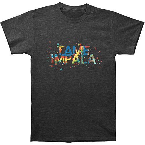 Tame Impala Men's Backwards Font Slim Fit T-shirt Medium Heather