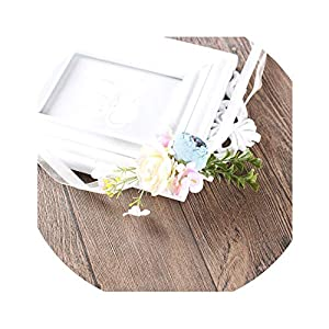 Silk Flower Arrangements Luohe yuanhui district injury cui department store Artificial Silk Flowers Wrist and Corsages Blue Yellow Band Bridesmaid Bracelet Wedding Bouquet Hand Flower Supplies Group,03