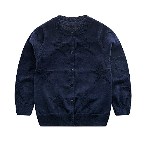 Old Navy Button Front Shirt (Jangannsa Baby Boys Sweater Kids Cotton Knitted Cardigan Round Neck Button up Sweaters 1-5 Years Old(2Years, Navy))