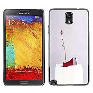 A-type Colorful Printed Hard Protective Back Case Cover Shell Skin for SAMSUNG Galaxy Note 3 III / N9000 / N9005 ( Axe Ice Red Art Modern Abstract Random )