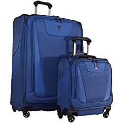 "Travelpro Maxlite 4 2-Piece Luggage Set: 29"" Expandable Spinner & Under Seat Bag Carry On (Blue)"