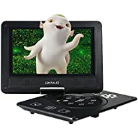 Docooler® 9 Inches Swivel Screen DVD/CD Player Portatil 16:9 TFT Screen Pixe 720 * 560 Support U Drive Play & Card Reader FM / TV / Game Function Black GKNUO GKN-900