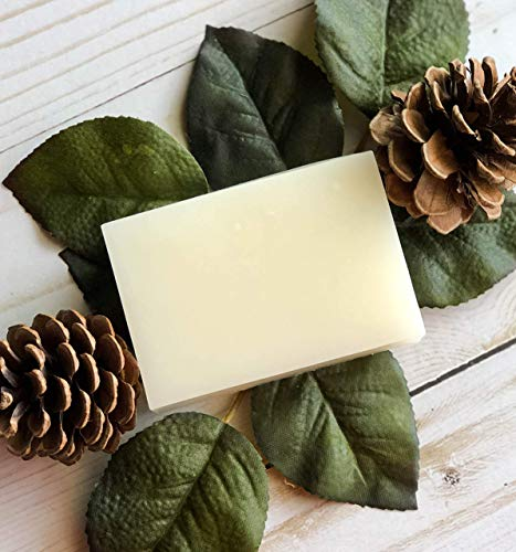 Essential Candle Company Pine & Frankincense Scented Goat's Milk Soap, Palm Free, Pine & Frankincense, 4 ()