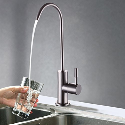 Cold Filtration Faucet (KES Z501A Lead Free Beverage Faucet Drinking Water Filtration System 1/4-Inch Tube, Brushed Stainless)