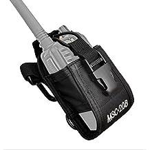 FANVERIM Multi-Function Universal Fabric Pouch Case Holder Compatible For Kenwood Yaesu Icom Motorola Radio On Duty B