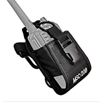 FANVERIM Multi-Function Universal Fabric Pouch Case Holder Compatible For Kenwood Yaesu Icom Motorola Radio On Duty B