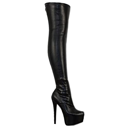 136a1684f84 LADIES WOMENS OVER KNEE THIGH HIGH HEEL STRETCH SUEDE LEATHER BOOTS SHOES  (UK 3 /