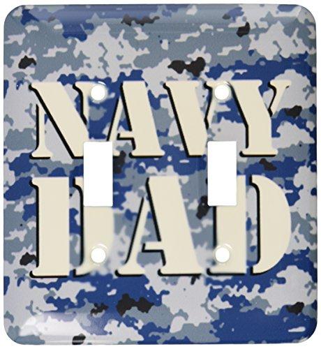 3dRose lsp_15406_2 marina de guerra Papá Azul Camuflaje doble interruptor de palanca