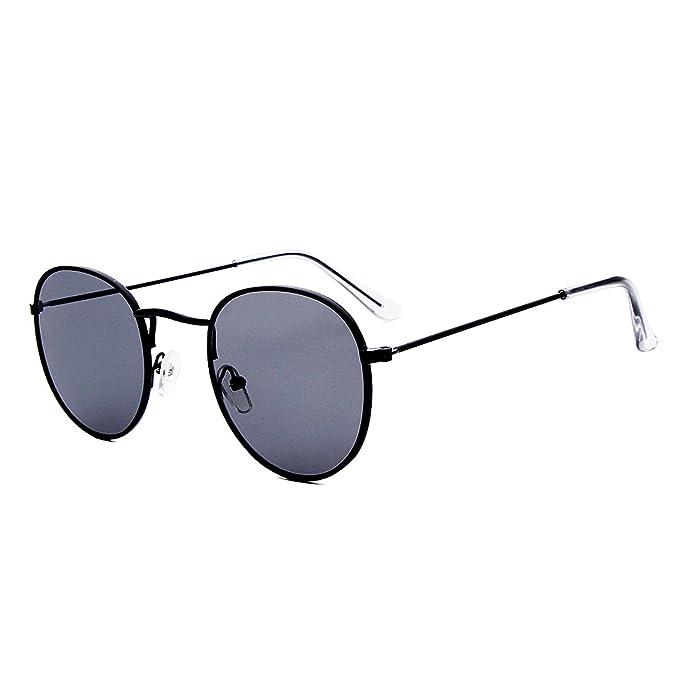 Amazon.com: Ensarjoe - Gafas de sol clásicas, redondas ...