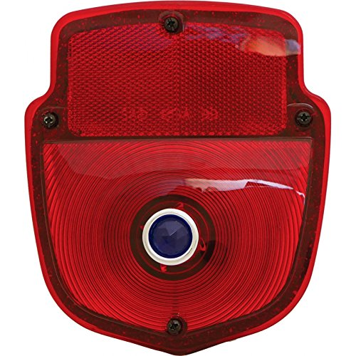 - MACs Auto Parts 48-31697 Pickup Truck Tail Light Assembly - Flareside Pickup - Shield Type - Chrome Housing - Right - With Blue Dot Lens Ins