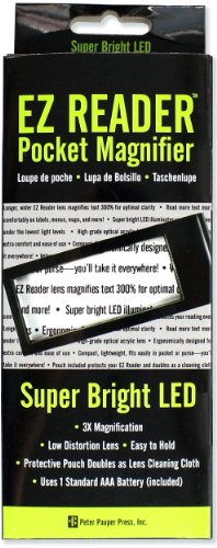 EZ Reader 3x LED Pocket Magnifier