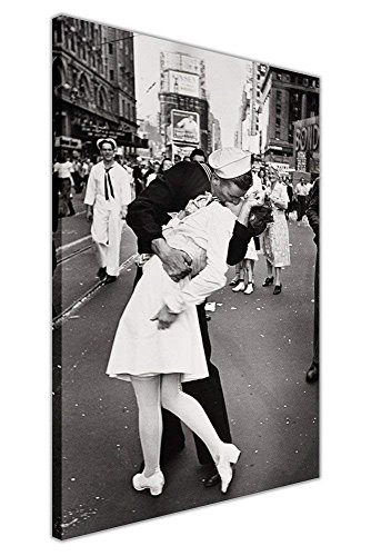- Littledollz Black and White Nostalgic Canvas Wall Art Prints Sailor Kissing Nurse Times Square New York World War 2 Pictures