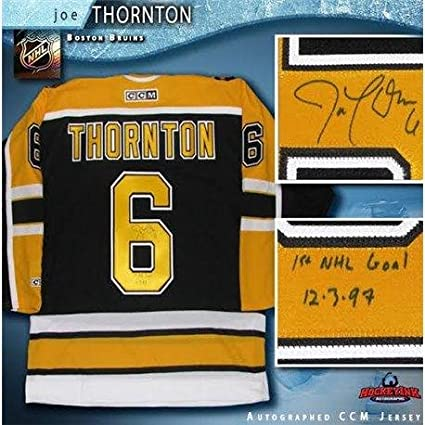 3e22b7bfa8b Image Unavailable. Image not available for. Color: Autographed Joe Thornton  Jersey ...