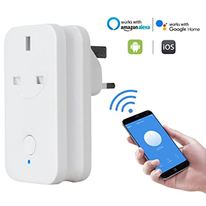 WiFi Smart Plug, Foluu UK WiFi enchufe inalámbrico enchufe temporizador de control remoto por Smartphone