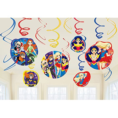 DC SuperHero Girl Value Pack Foil Swirl Decorations