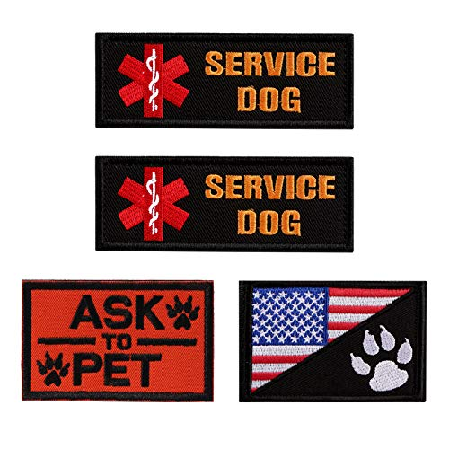 (Vevins Service Dog Vest Petch - K9 in Training Hook and Loop Tag - Embroidered Morale Patches for Tactiacl Dog Harness Backpack)