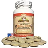 Skin and Coat Supplement for Dogs and Cats (Omega 3 Fish Oil, Vitamins, Amino Acids, Minerals) 60 Bacon Flavor Chewables.