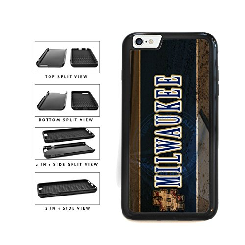 BleuReign(TM) Hashtag Milwaukee #Milwaukee Baseball Team 2-Piece Dual Layer Phone Case Back Cover For Apple iPhone 6 Plus and iPhone 6s Plus (5.5 Inches Screen) ()