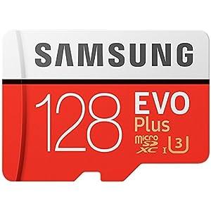 Samsung Evo Plus Class 10 UHS-I microSDXC U3 with Adapter (128GB MB-MC128GA/APC) 7 Model: MB-MC128G/APC Read:up to 100MB/s with UHS-1 interface Write:up to 90MB/s with UHS-1 interface UHS-I, compatible to HS interface, Grade 3, Class 10, 4K