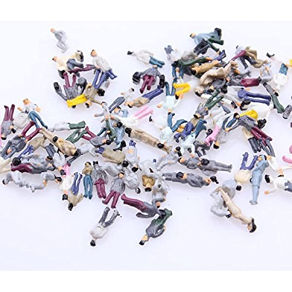 200x Muticolor Painted People Figures Model N Scale Train 1:100 Layout