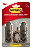 Command Forever Classic Metal Hook, Medium, Oil Rubbed Bronze, 2-Hooks (FC12-ORB-2ES)