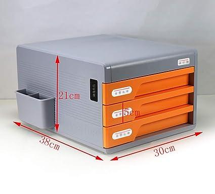 YXWa Carpetas Archivador de sobremesa con Cerradura, ABS, Tipo de cajón de plástico,